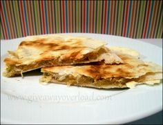 Giveaway Overload: Extra Protein Cheese Quesadillas