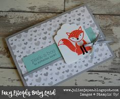 Julie Kettlewell - Stampin Up UK Independent Demonstrator - Order products 24/7: More Foxy Friends!