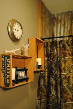 Realtree AP Camo Shower Curtain - a rustic feel.