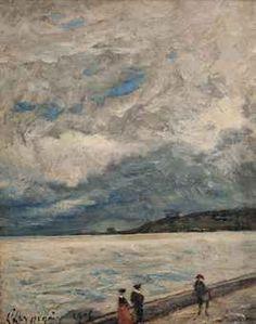A stroll on the Côte d'Azur  Henri Joseph Harpignies (French, 1819-1916) @ Christies