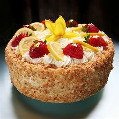 Lemon Ricotta Torte from Extraordinary Desserts, San Diego, CA. ~  Love this place!