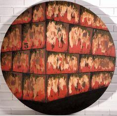 """""""Esquina No.5"""" (Ecke No.5) Painel - tecnica mista - 100 cm diam."""