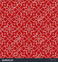 Christmas Holiday Knitted Pattern with Snowflakes. Willow Weaving, Sweater Design, Knit Patterns, Snowflakes, Christmas Holidays, Fair Isles, Vector Background, Knitting, Inspiration