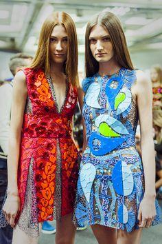 Peter Pilotto Spring 2015 London Fashion Week Backstage