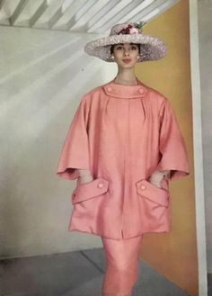 L'Officeil  Dior 1956.1950s fashion - a popular look for back then, but I don't like it!