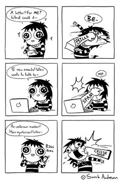 Anybody who's familiar with the comics of Sarah Andersen will know how perfectly they summarize the daily struggles of modern life, especially when it comes to Sarah Anderson Comics, Sara Anderson, C Cassandra, Cute Comics, Funny Comics, Saras Scribbles, Funny Fails, Funny Memes, Hilarious
