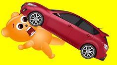 Mega Gummy bear Hit by Truck in Traffic Finger Family Song For Kids - YouTube