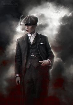 """masterhalfling: """" On a gathering storm comes a tall handsome man In a dusty black coat with a red right hand """" Amazing fan art!"""