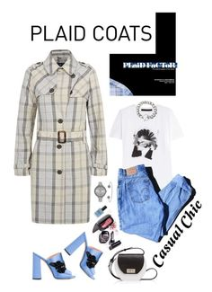 """""""Pattern Mix: Plaid Coats"""" by shortyluv718 ❤ liked on Polyvore featuring Karl Lagerfeld, Levi's, Marc Jacobs, Joanna Maxham, Rochas, SO & CO, Lauren B. Beauty and plaidcoats"""