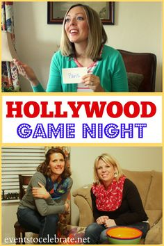 Hollywood Party Games For Teens Ideas Night Couple, Family Game Night, Girls Night, Hollywood Game Night, Hollywood Party, Couple Games, Family Games, Group Games, Pc Games