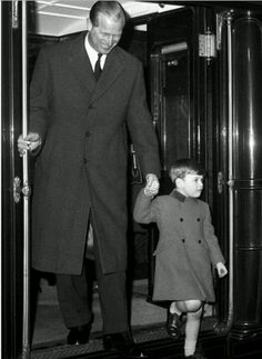Prince Philip and Prince Charles (age 6) in 1955 ~ Love the way they both have their arms! Description from pinterest.com. I searched for this on bing.com/images