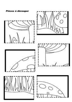 mushroom puzzle worksheet | Crafts and Worksheets for Preschool,Toddler and Kindergarten