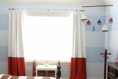 gardinen im kinderzimmer rot weiß farben - Maritimer Style