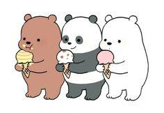 Фото Гриз / Grizz, Панда / Pan-man и Белый / Ice Bear из м. - Mejor Tutorial and Ideas Cute Bear Drawings, Cute Cartoon Drawings, Kawaii Drawings, Cartoon Cartoon, Pardo Panda Y Polar, Polar Bear Drawing, Cartoon Mignon, We Bare Bears Wallpapers, We Bear