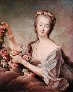 Portrait of the Countess du Barry by Francois Hubert Drouais. Does anyone know where this lives? #art #history