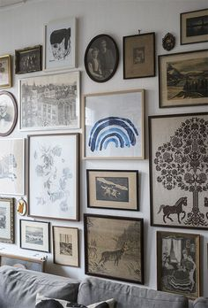 eclectic wall gallery.