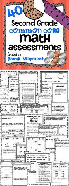 $ 40 Second Grade Common Core Math Assessments