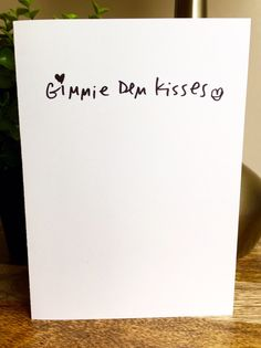A personal favorite from my Etsy shop https://www.etsy.com/listing/455596734/gimme-kisses-one-year-anniversary-card