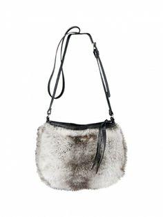Barts Small Fur Shoulder Bag Rabbit