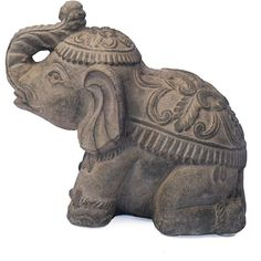 Elephant Garden Sculpture (320 VEF) ❤ liked on Polyvore featuring fillers, home, decor, extras and accessories