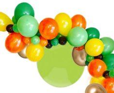 Dinosaur Party Balloon Garland Kit | ONE STOP KIDS PARTY SHOP Orange Balloons, Black Balloons, Gold Balloons, Dinosaur Party Decorations, Dinosaur Party Supplies, Dinosaur Balloons, Balloon Garland, Party Shop