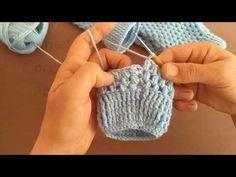 Parmaksız Fıstıklı Eldiven Modeli - YouTube Fingerless Gloves Crochet Pattern, Knit Headband Pattern, Crochet Socks, Knitted Gloves, Crochet Stitches, Knit Crochet, Crochet Baby, Crochet Patterns, Crochet Wrist Warmers