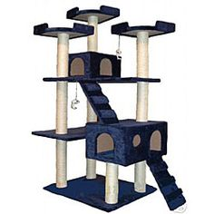 @Overstock.com - With ladders and scratch posts covered with natural sisal rope, your cat will enjoy this collosal deluxe 'condo.' Your cat will be able to lounge and play for hours courtesy of the furniture's total of 10 posts and 15 levels.http://www.overstock.com/Pet-Supplies/Cat-Tree-Condo-House-Scratcher-72-inch-Furniture/5098578/product.html?CID=214117 $124.99