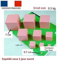 La Tour Rose Montessori matériel methode: Jeux éducatif en bois small size