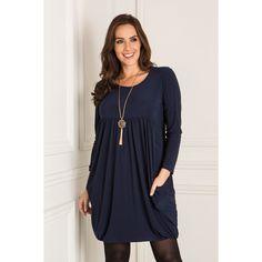 Nicole Empire Drape Dress (356013) | Ideal World