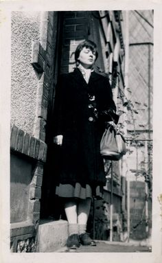 """""""Not much in the way of pictures around here—There's this one of me pregnant in Paris""""; Marie Ponsot, 1957"""