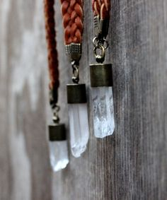 Raw Quartz Crystal Necklace, Unisex, Bohemian, Tribal, Healing Stone, Spiritual