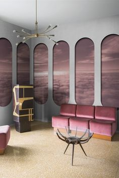 The Proizeoini Wallpaper from @londonart : romantic inputs in modern settings : AmEn. #londontart #moderndesign #wallpaper