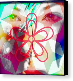 Abstract Canvas Print featuring the digital art Transformation by Caroline Gilmore