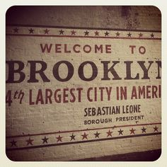 Brooklyn, one of the five boroughs of New York City. The others are: The Bronx, Manhattan, Queens en Staten Island