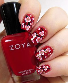 Elizabeth from didmynails.com - Chinese New Year Nail Art.  How amazing is this manicure?