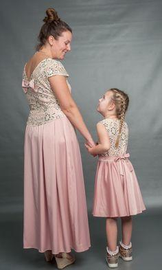 Mama-Tochter Abendkleid
