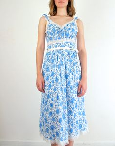 Blue Rose 1940s Lingerie by Blanchette by jessjamesjake on Etsy, $40.00