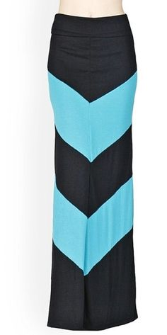 Holiday sale Chevron maxi skirt  SZ: S M and L.... by Foreverpeace