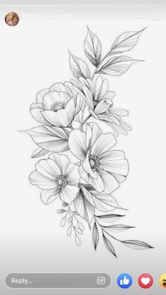 Pati Nuce.san.martin has this design available! If you are interested you can #flowertattoos   #flowertattoos