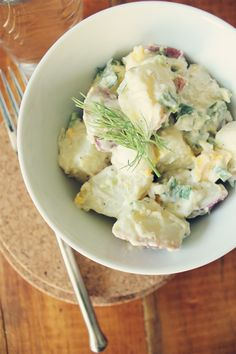 Quick & Easy Potato Salad - Perfect for a holiday potluck or a simple dinner for 2 {via My. Daily. Randomness.}