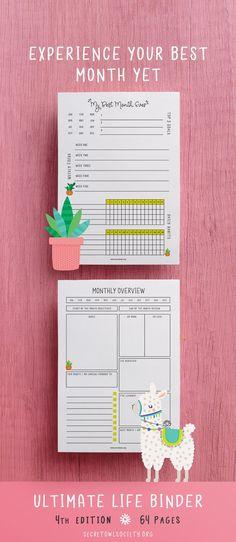 Planner Ultimate Life Binder Blog Organizer Daily Weekly