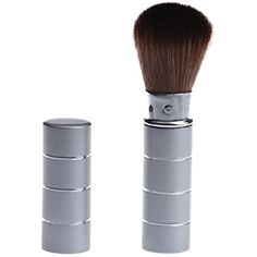 Voberry® Makeup Telescopic Stainless Steel Daily Party Retractable Brush Powder Blush Brush Retractable Brush (Silver) *** Find out more about the great product at the image link. (This is an affiliate link) #FaceMakeupBrushes