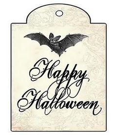 Halloween gift tag, free printable.