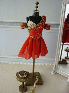 A miniature tutu handmade/ Miniature Ballet Costume Girls Dance Costumes, Jazz Costumes, Tutu Costumes, Ballet Costumes, Dance Outfits, Dance Dresses, Figure Skating Outfits, Figure Skating Costumes, Figure Skating Dresses
