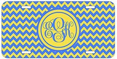 Personalized Monogrammed Chevron Blue Yellow Car License Plate Auto Tag Top Craft Case http://www.amazon.com/dp/B00LOWNP6O/ref=cm_sw_r_pi_dp_Oaptub1R8MGKK