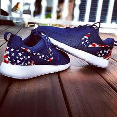 Navy nike roshe run american flag by CGRoshes on Etsy                                                                                                                                                      More