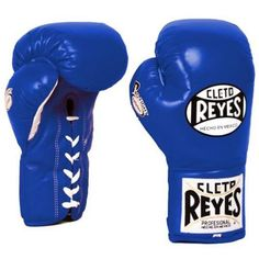 Cleto Reyes Safetec Professional Boxing Fight Gloves - 8 oz - Blue