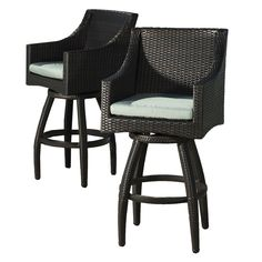 Shop RST Brands  OP-PEBS2-SPA-K Deco Spa Blue Swivel Bar Stools (Set of 2) at The Mine. Browse our patio bar stools, all with free shipping and best price guaranteed.