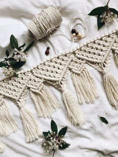 wedding macrame bunting | Wedding, Queen size and Moroccan decor on Pinterest