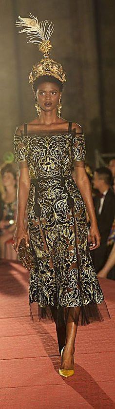 Dolce & Gabbana - Alta Moda Autumn-Winter 2017 Couture in Palermo